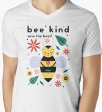 Save The Bees! Men's V-Neck T-Shirt