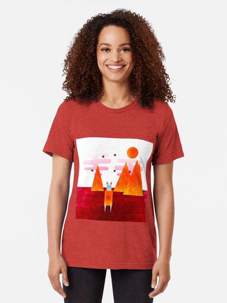 Alternate view of The desert shaman Tri-blend T-Shirt