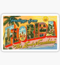 Greetings From Florida Postcard Sticker
