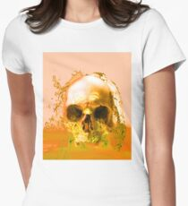 Golden Skull in Water Womens Fitted T-Shirt
