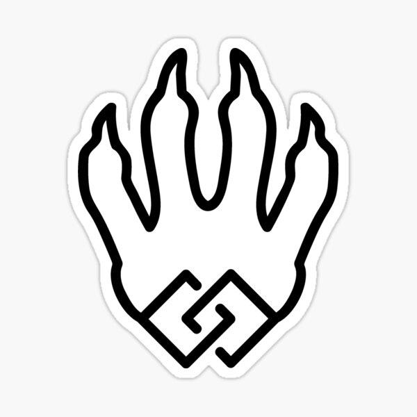 Dragon Unity Black Sticker