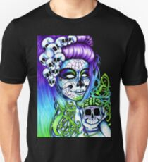 Dai de los Muertos, Twins Purple T-Shirt
