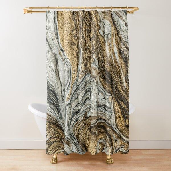 glamour 004 flüssige braune Farben Duschvorhang