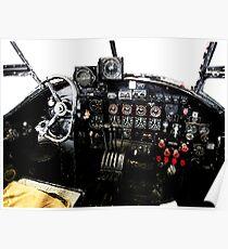 RAF World War 2 AVRO Lancaster cockpit Poster