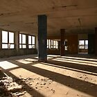 Abandoned factory hall in sunlight by Lenka Vorackova