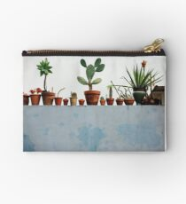 Row of Cacti and Succulents  Studio Pouch