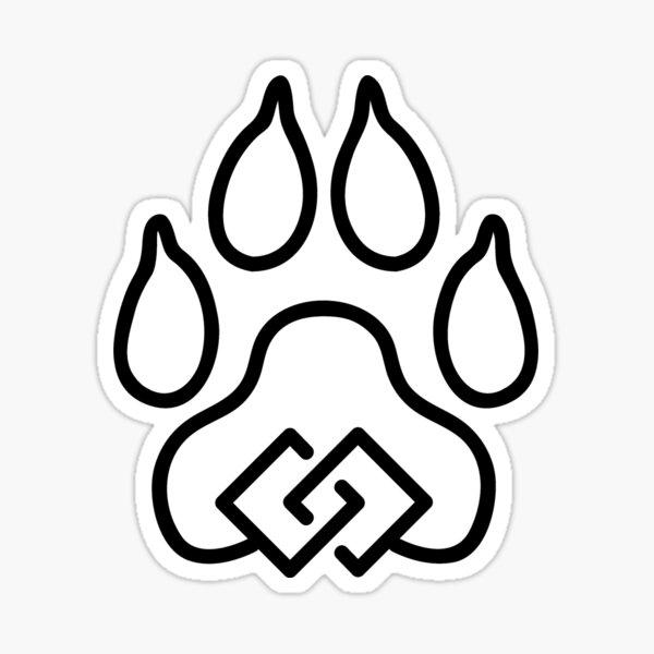 Canine Unity Black Sticker