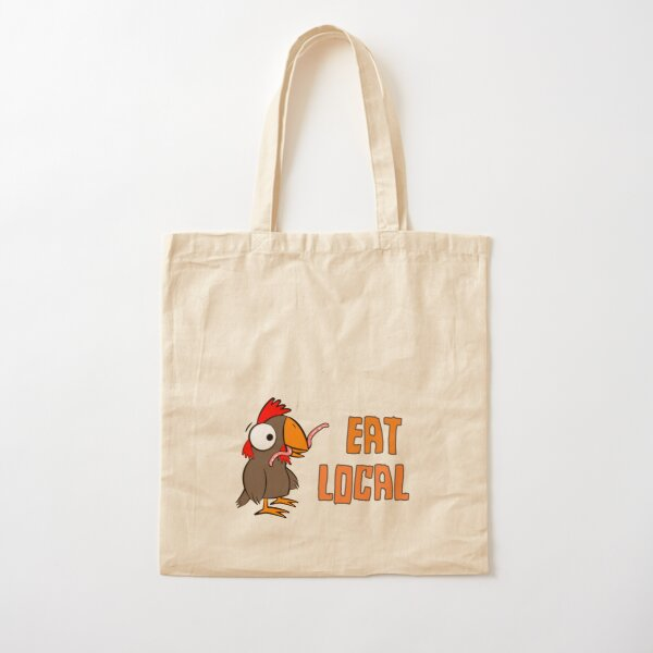 EAT LOCAL Cotton Tote Bag