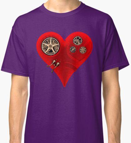 Steampunk Red Clockwork Heart Classic T-Shirt