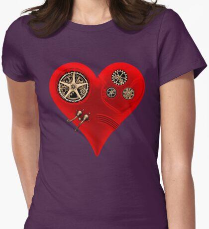 Steampunk Red Clockwork Heart T-Shirt