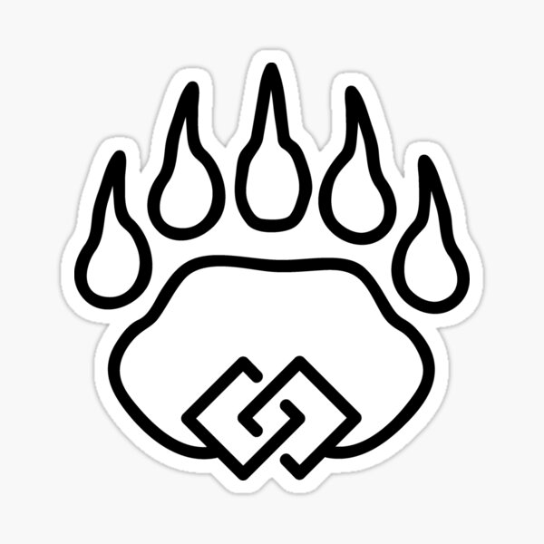 Bear Unity Black Sticker