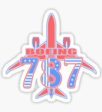 Red and Blue 787 Sticker
