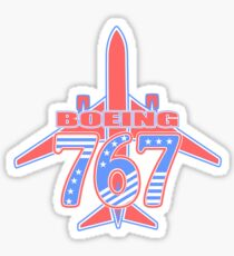 Red and Blue 767 Sticker