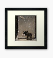 John Bauer the elk Framed Print