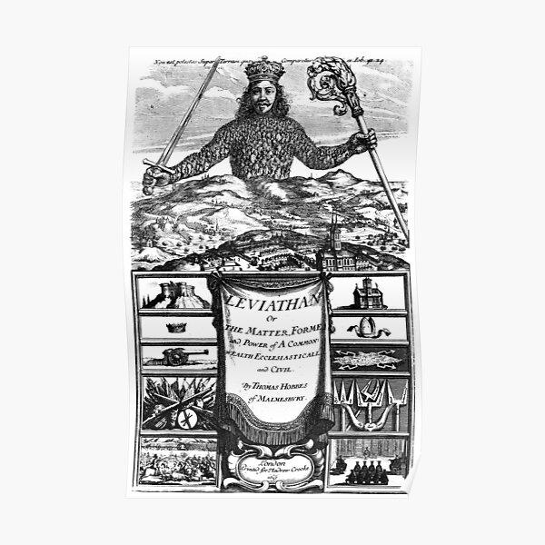 et est considéré comme l'un des exemples les plus anciens et les plus influents de la théorie du contrat social. Il s'agit d'un frontispice du livre - gravure d'Abraham Bosse. Poster