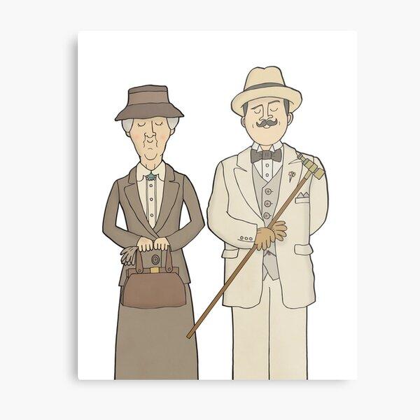 Marple and Poirot Metal Print