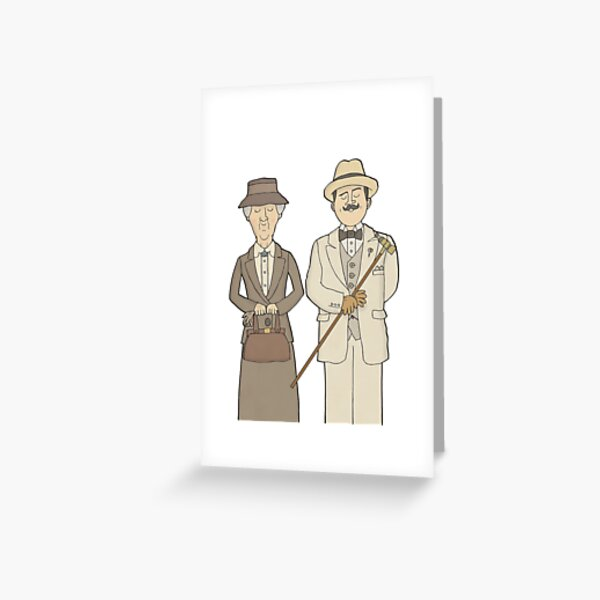 Marple and Poirot Greeting Card