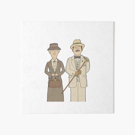 Marple and Poirot Art Board Print