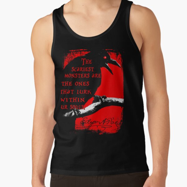 Edgar Allan Poe Quotes Horror Macabre Literary Poet Author Gift Tank Top