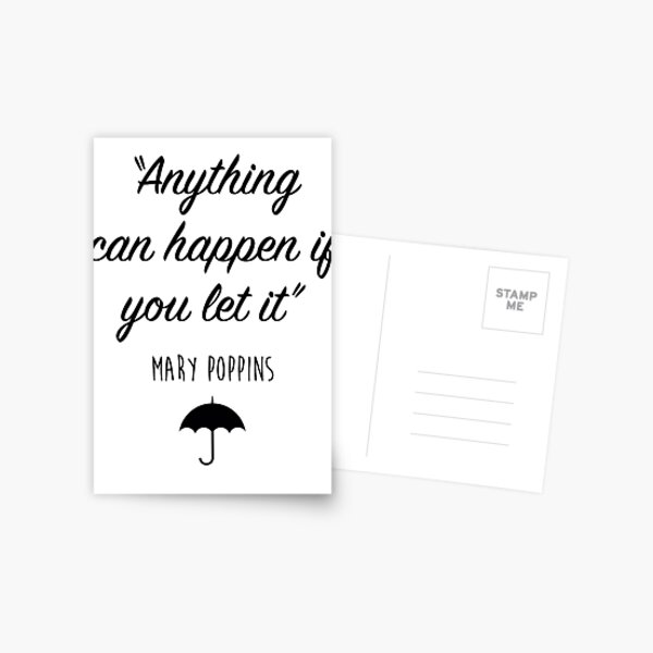 Mary Poppins - Anything can happen Postcard
