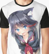 Kill La Kill Nekomimi Graphic T-Shirt