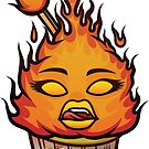 Fiery Cupcake by blazonbrikhaus