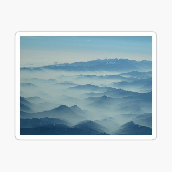 Tibetan Mountains aerial view Sticker