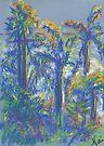Neighboring Palms (pastel) by Niki Hilsabeck