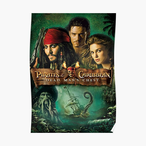 Pirates of the Caribbean Dead mans chest  Poster