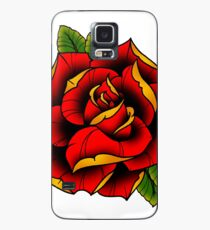 Neotraditional Rose in Red Case/Skin for Samsung Galaxy