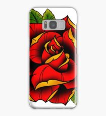 Neotraditional Rose in Red Samsung Galaxy Case/Skin