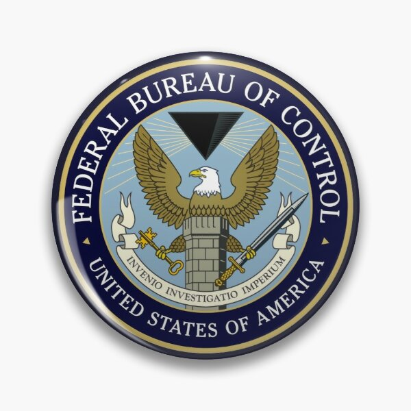Federal Bureau Of Control Pin