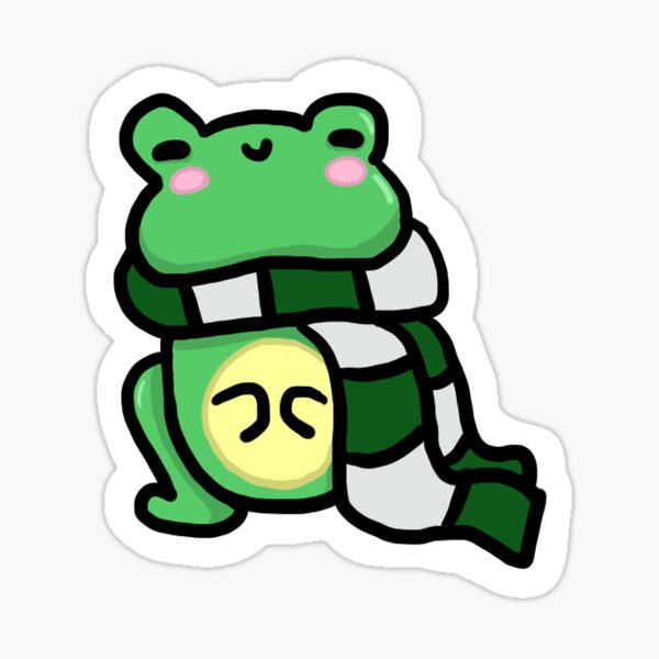 Ambitious Frog Sticker