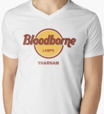 Bloodborne Lamps - Yharnam Men's V-Neck T-Shirt