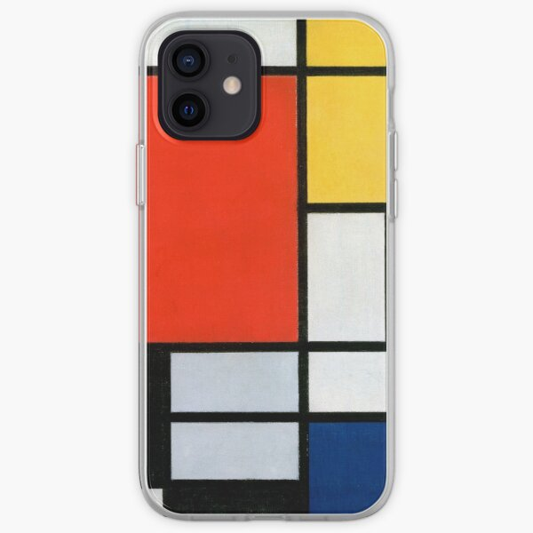 Composition with Red, Blue, Yellow, and Black - Piet Mondrian iPhone Soft Case