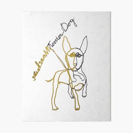 Manchester terrier dog ambidextrous line drawing Art Board Print