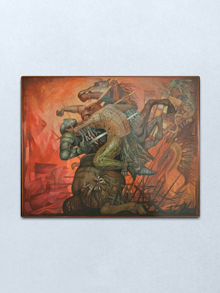 Alternate view of The fusion of two cultures, by Jorge Gonazalez Camarena  Metal Print