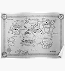 Elder Scrolls map in ink Poster