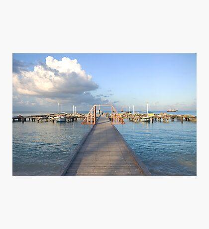 Hardicurrari Wharf Palm Beach Aruba  Photographic Print