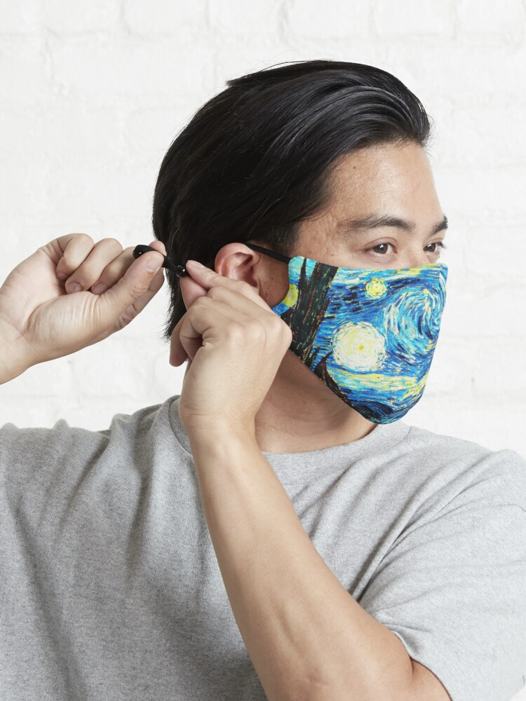 Alternate view of Van Gogh - Starry Night, famous painting Mask