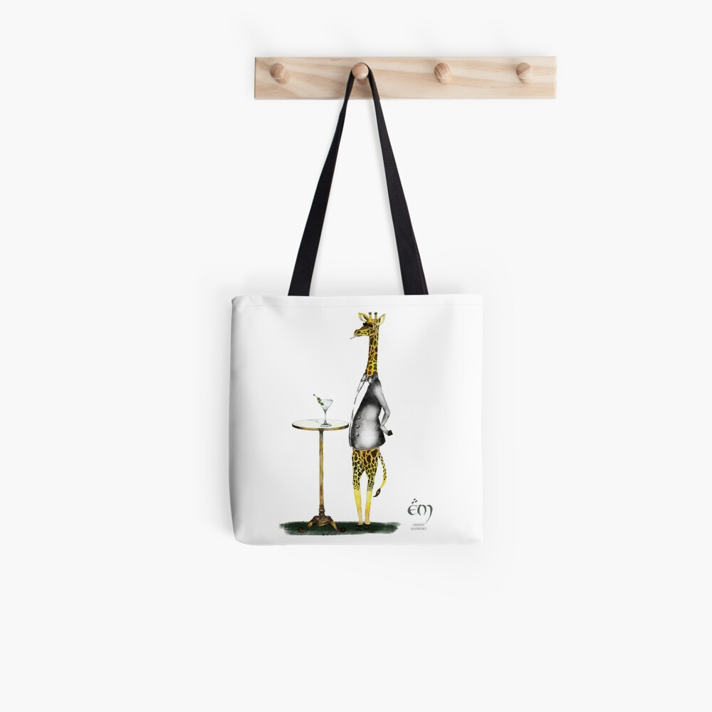 Tote bag «The Giraffe in a suit»