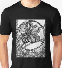 Thimbleweed, Ink Flower Drawing T-Shirt
