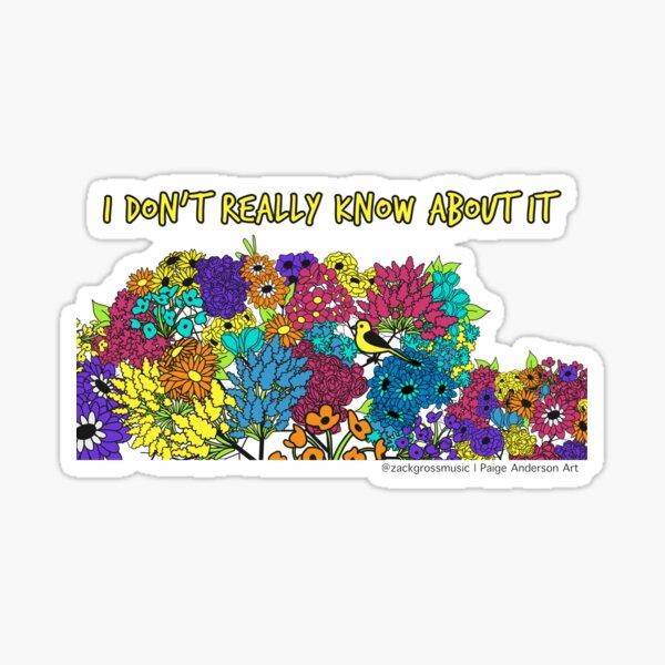 IDRK - Bird & Flowers Sticker