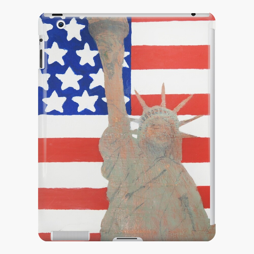 Patriotic Statue of Liberty With American Flag Backdrop iPad Case & Skin