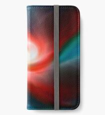 Red and blue abstract swirl iPhone Wallet/Case/Skin