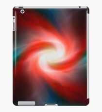 Red and blue abstract swirl iPad Case/Skin