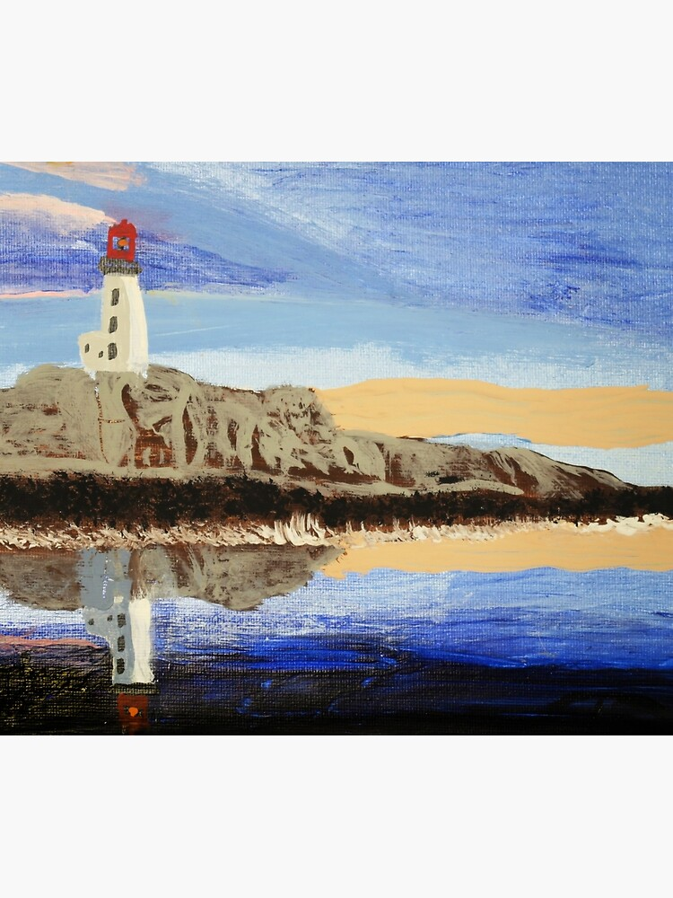 Lighthouse Reflection On The Water by artshopc360