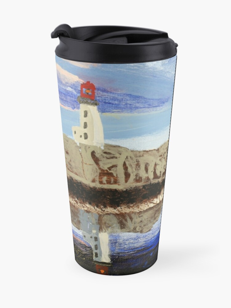 Alternate view of Lighthouse Reflection On The Water Travel Mug