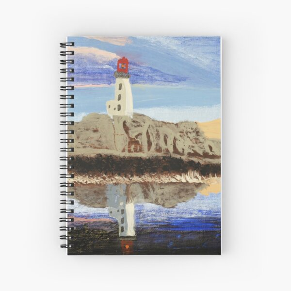 Lighthouse Reflection On The Water Spiral Notebook