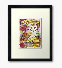 Fail Better Owl Framed Print